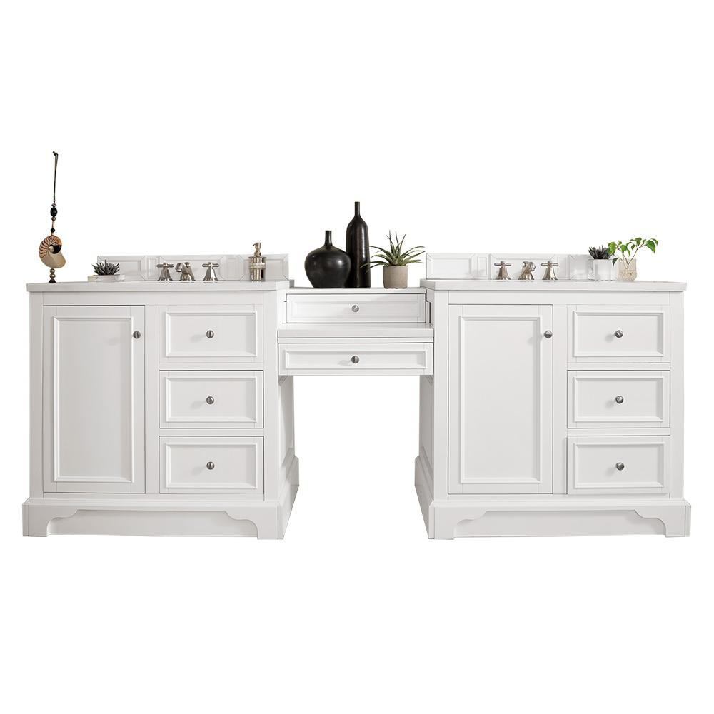94 Quot De Soto Bright White Double Sink Bathroom Vanity