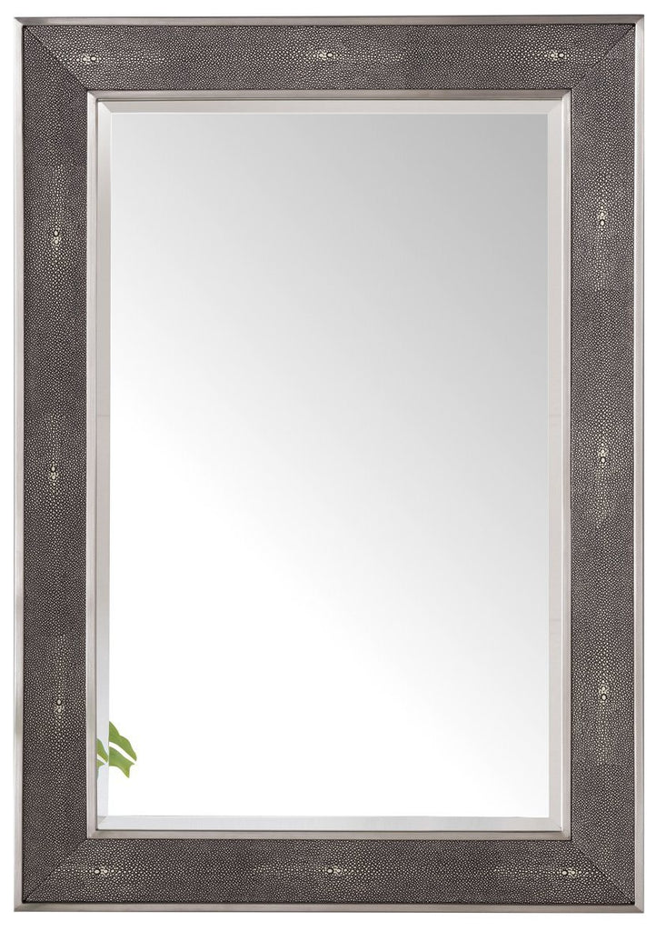 "Element 28"" Mirror, Silver with Charcoal - vanitiesdepot.com"