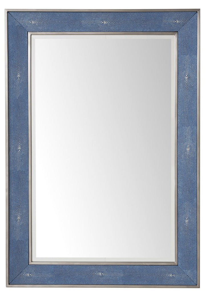 "Element 28"" Mirror, Silver with Delft Blue, James Martin Vanities - vanitiesdepot.com"