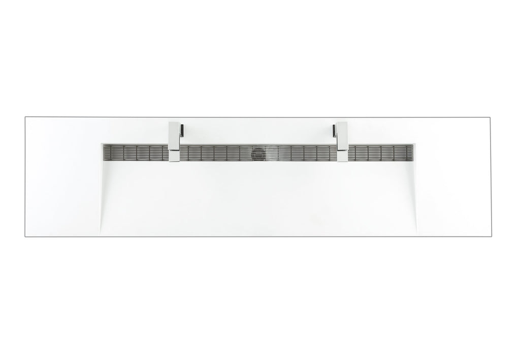 "72"" Columbia Double Bathroom Vanity, Glossy White, James Martin Vanities - vanitiesdepot.com"