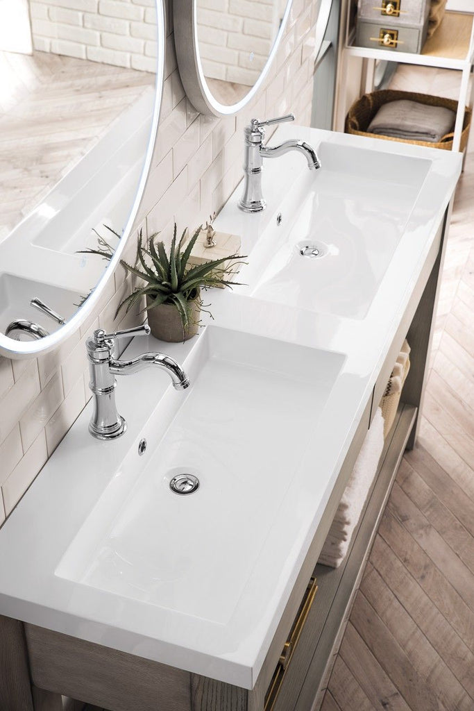 "Brooklyn 63"" Wooden Sink Console, Platinum Ash"