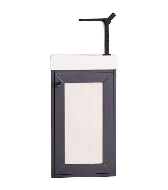 "Chianti 16"" Single Vanity Cabinet, Mineral Grey"