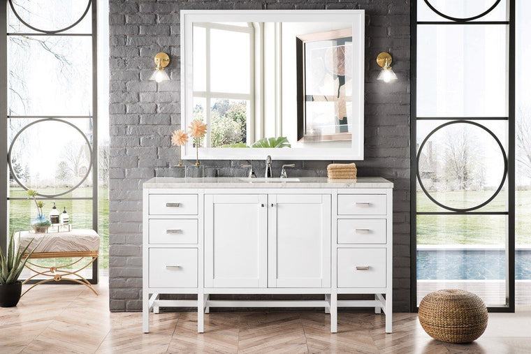 "60"" Addison Single Vanity Cabinet, Glossy White"