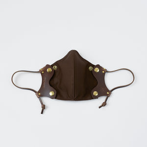 Coffee Leather Face Mask