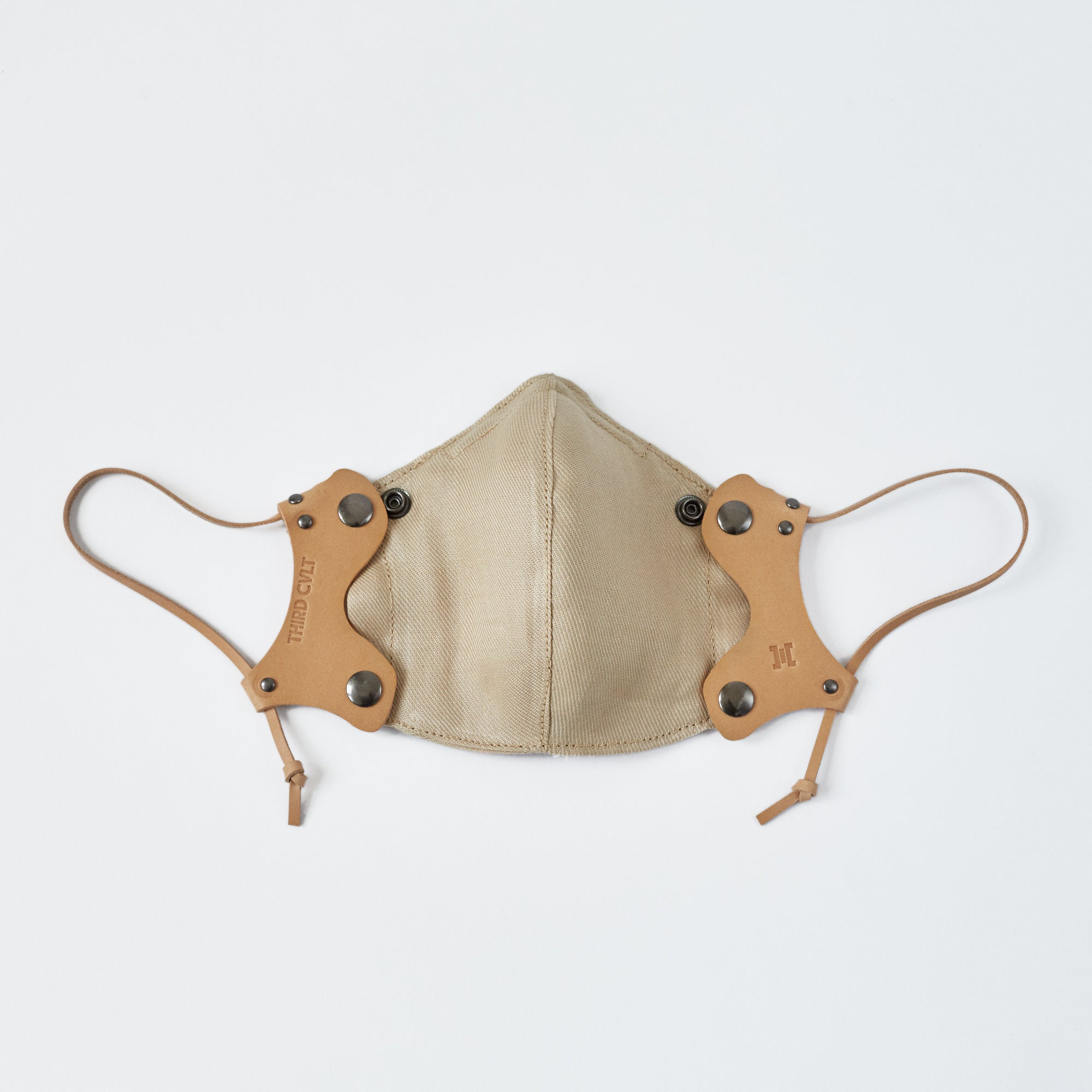 Golden Tan Leather Face Mask