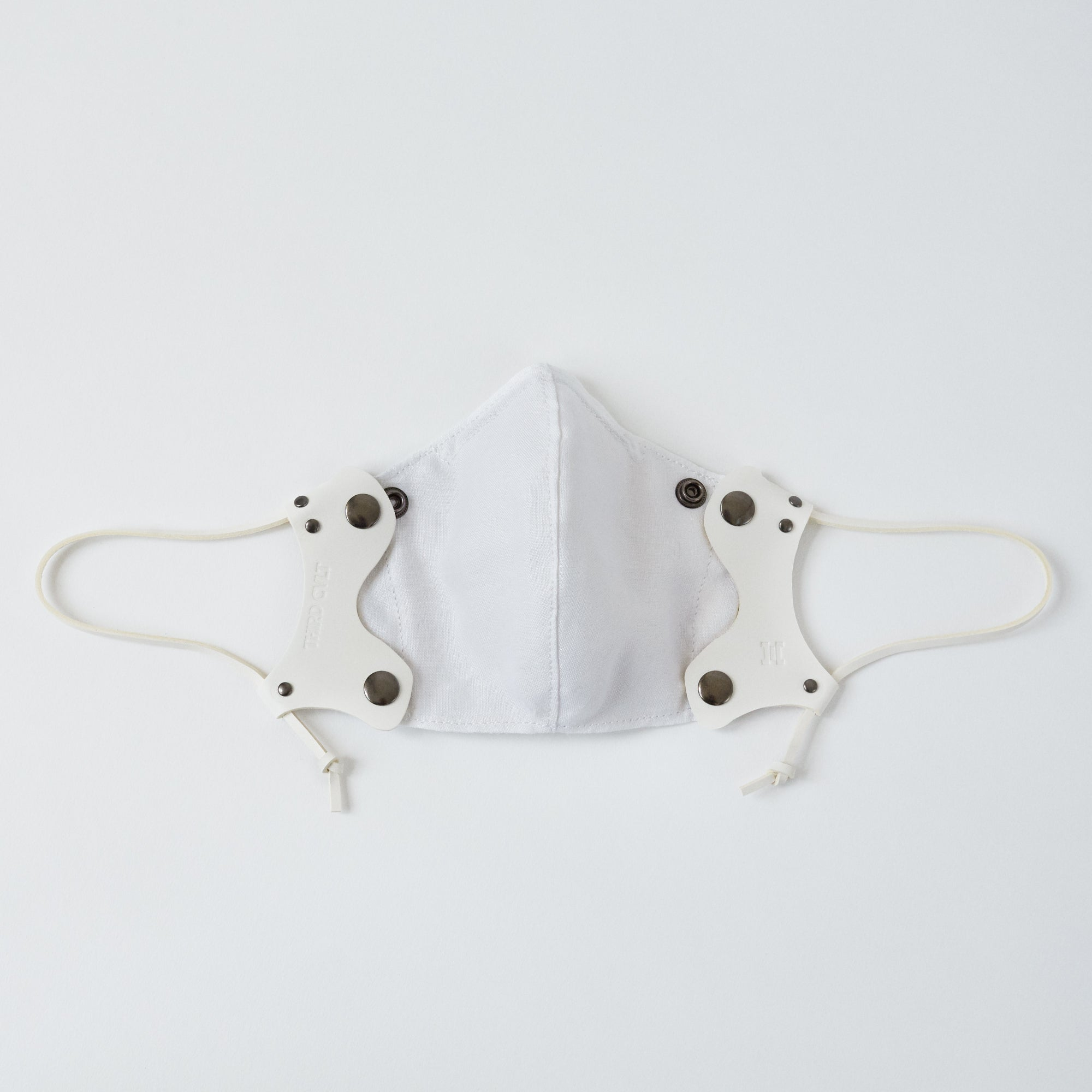 White Leather Face Mask