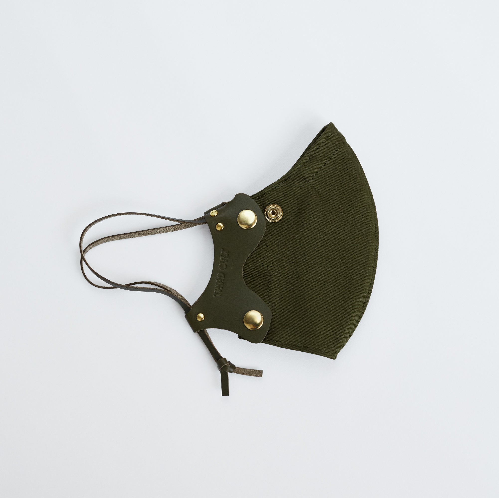Olive Leather Face Mask