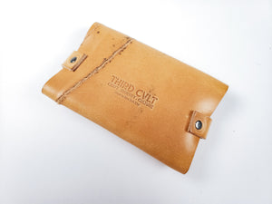 Expandable Flap Wallet, natural tan w scar