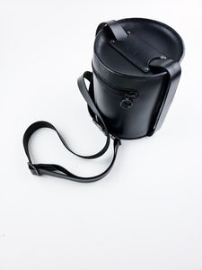 Canister, black hardware
