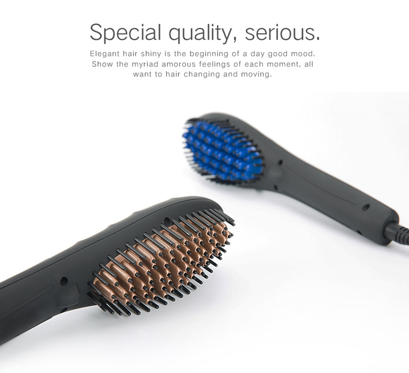 AOF x8333B Electric Ceramic Hair Straightening Brush