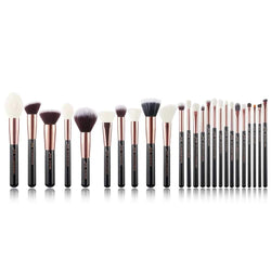 Professional Black 25 Makeup Brushes Set