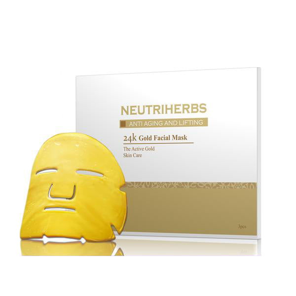 Neutriherbs 24k Gold Crystal Collagen Mask - 3pcs/set
