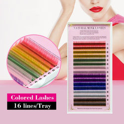 Non-Sticky Rainbow Eyelashes - Colorful Eyelashes Extensions