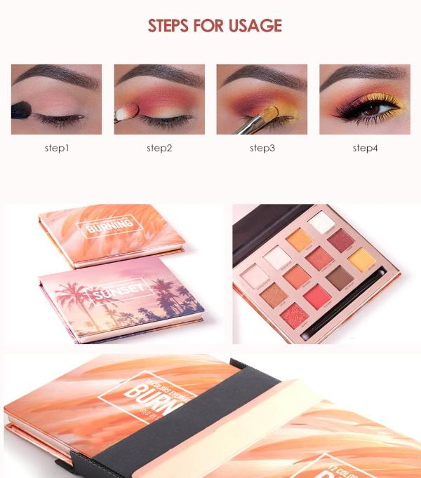 Sunset Pro Glitter Eyeshadow Palette