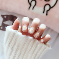 Kawaii Cute Short Fake Nails 24 Pcs
