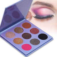 9 Color Shimmer Bright Pigment Eyeshadow