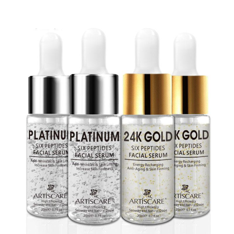 4pcs Platinum + 24k Gold Anti-Wrinkle, Anti-aging Serum 20ml