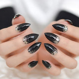 Cloliva  Glitter Press On Nails - 24pcs
