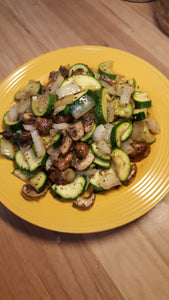 Zucchini and Mushrooms