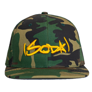SODA Snapback Camo/Athletic Gold