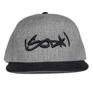 SODA Snapback Heather Grey/Black