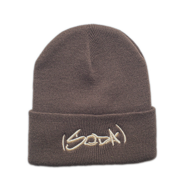 SODA Beanie Brown/Cream