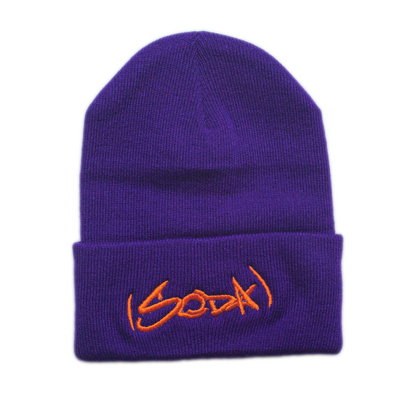 SODA Beanie - Purple/Orange