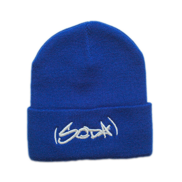 SODA Beanie Royal/White