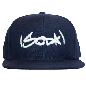 SODA Snapback - Navy/White