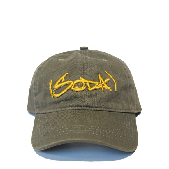 SODA Dad Hat - Olive/Gold