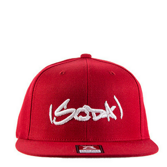 SODA Snapback Red/White