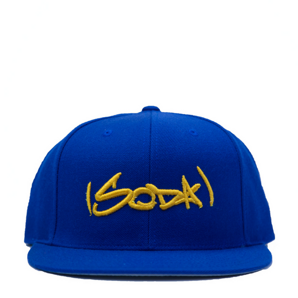 SODA Snapback Royal/Gold