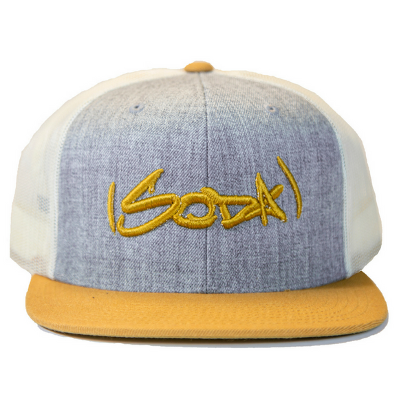 SODA Snapback - Heather Gray / Birch / Biscuit