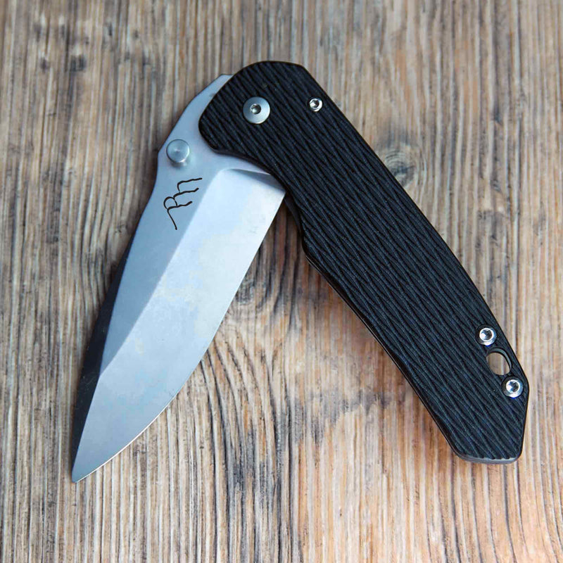 Gorgon - Black Cerakote Frame and Raw Blade