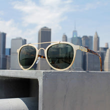 Jase New York Jackson Sunglasses in Matte Gold