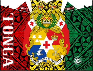 Rasta / Tonga Shield Hooded Blanket