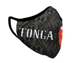 Black Tonga Face Mask