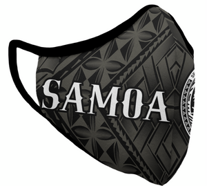 Black Samoa Face Mask