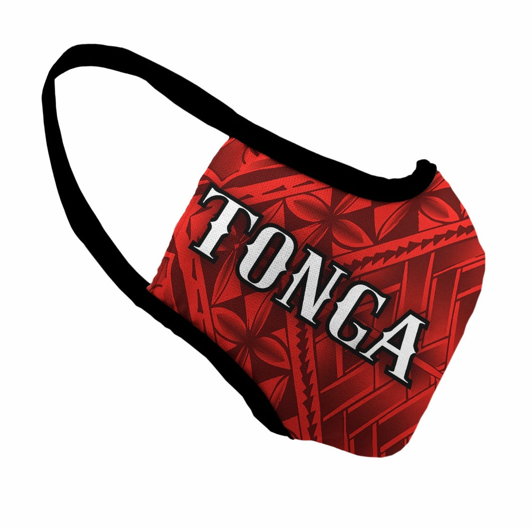Red Tonga Face Mask