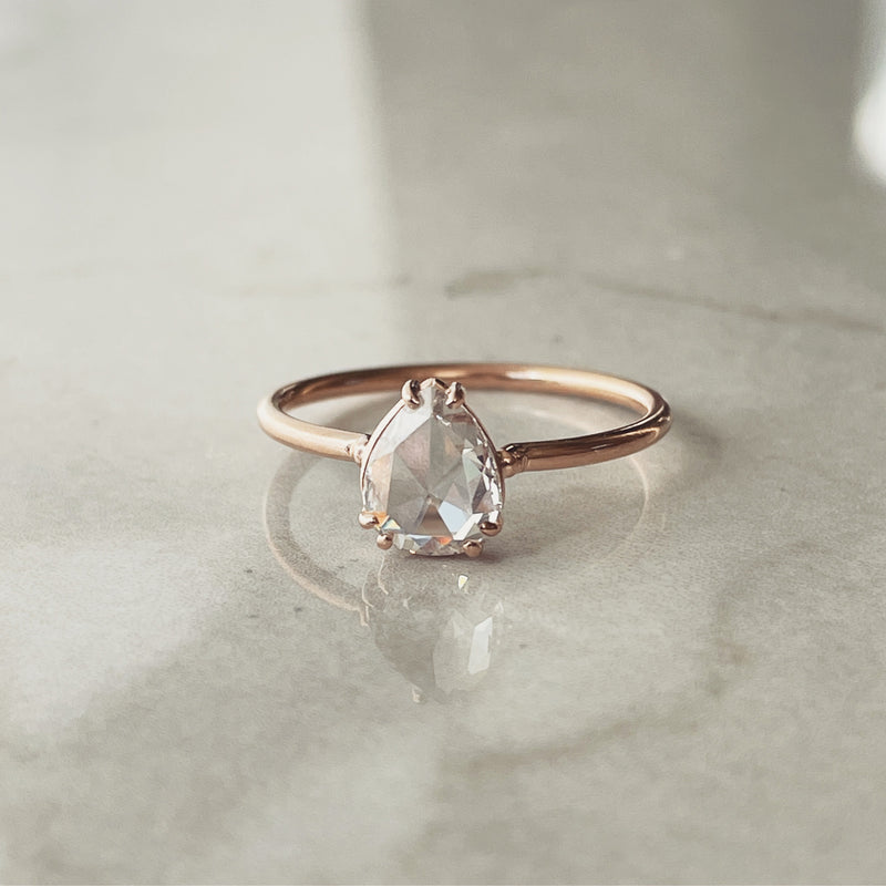 Pink Rose Cut Diamond Ring