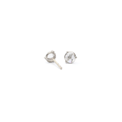 Rose Cut Diamond Earrings - 0.4cts