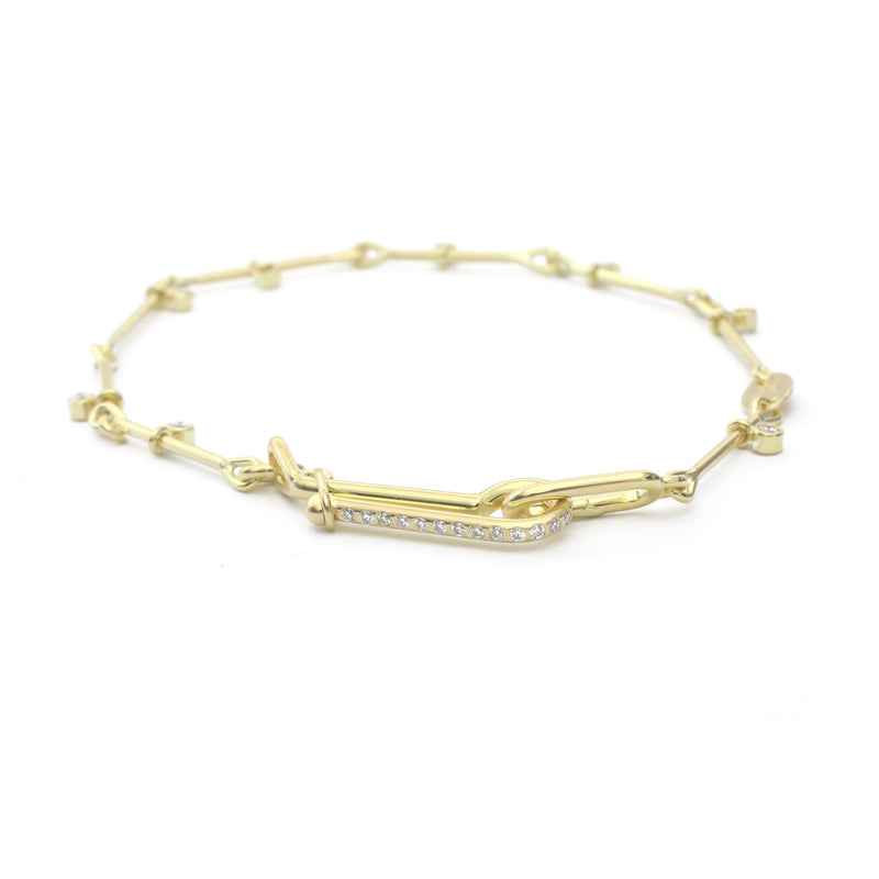 Needle Eye Chain Bracelet - with Diamond Sliders