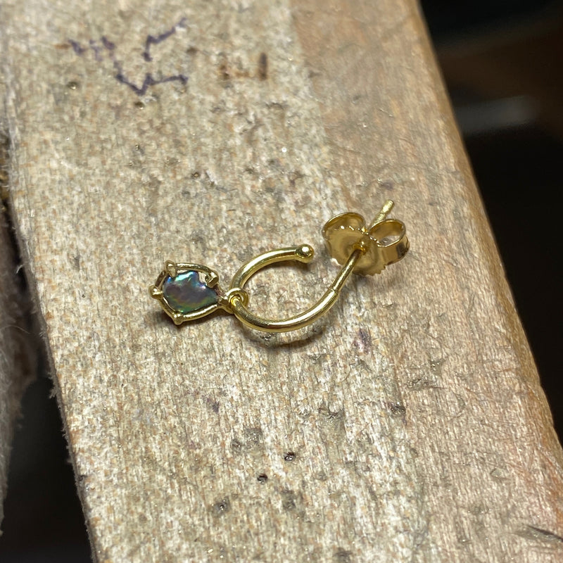 Abalone Pearl Hoop -  Single Earring
