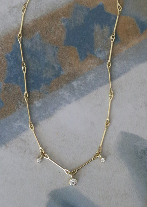 Lantern Necklace - 3 Diamonds