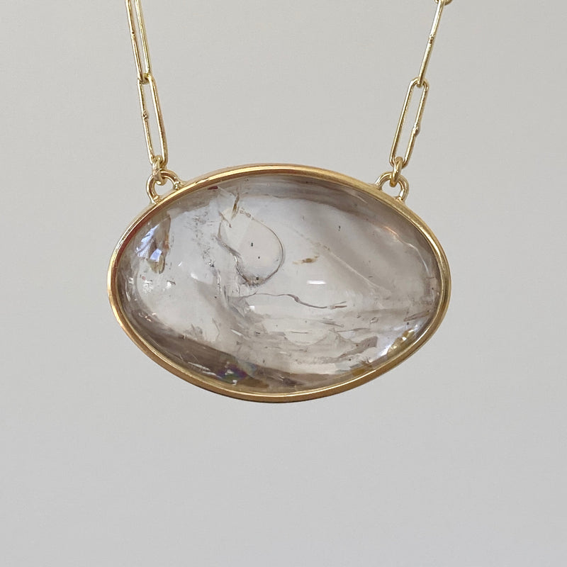 Large Bubble Enhydro Pendant Necklace