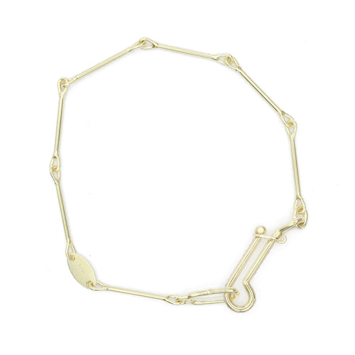 Needle Eye Chain Bracelet - Medium Weight with Diamonds