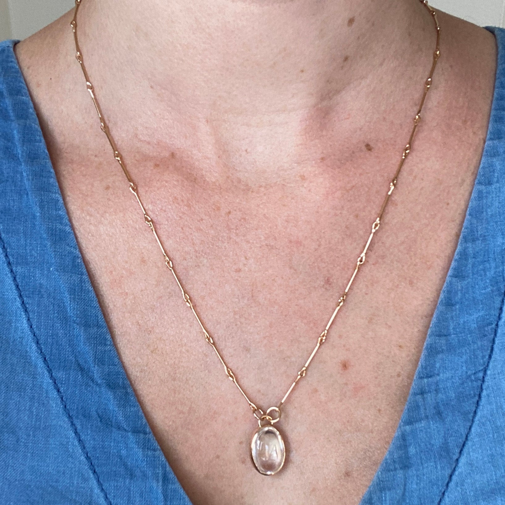 Small Enhydro on Rose Gold Necklace