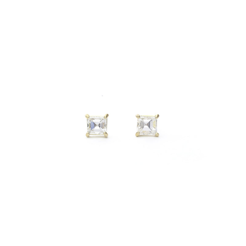 Diamond Carré Earrings - 0.67 carats