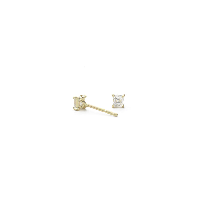 Diamond Carré Earrings - 0.21 carats