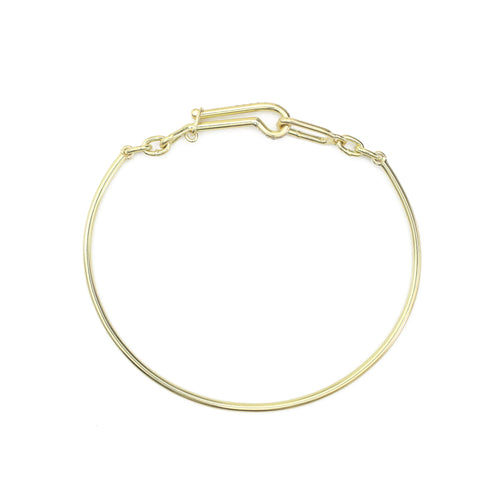 Chained Bangle - Diamond Clasp